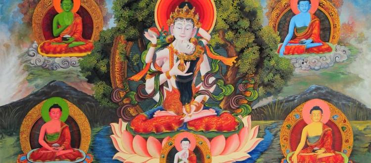 adi buddha thangka
