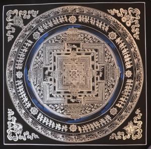 Silver Kalachakra Mandala
