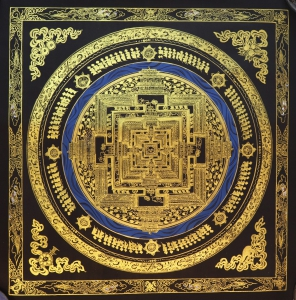 Golden Kalachakra Mandala