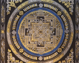 Golden and Silver Kalachakra Mandala
