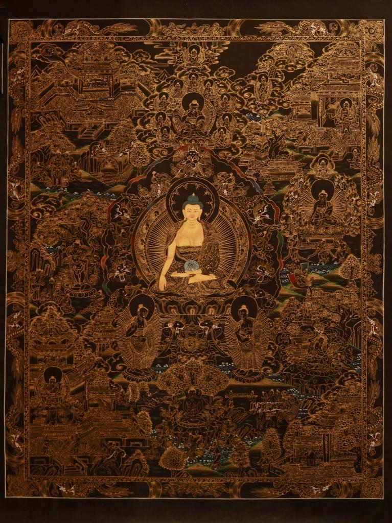 Life of Buddha master Quality Thangka Painting