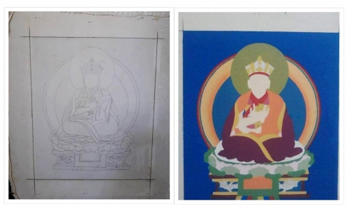 Karmapa Thangka Making Process