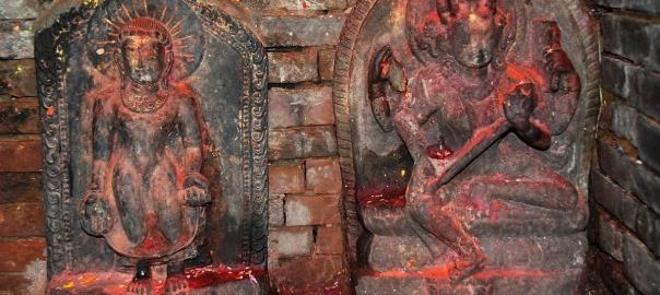 Bajrayogini statue in Bajrayogini Temple, Sankhu, Kathmandu