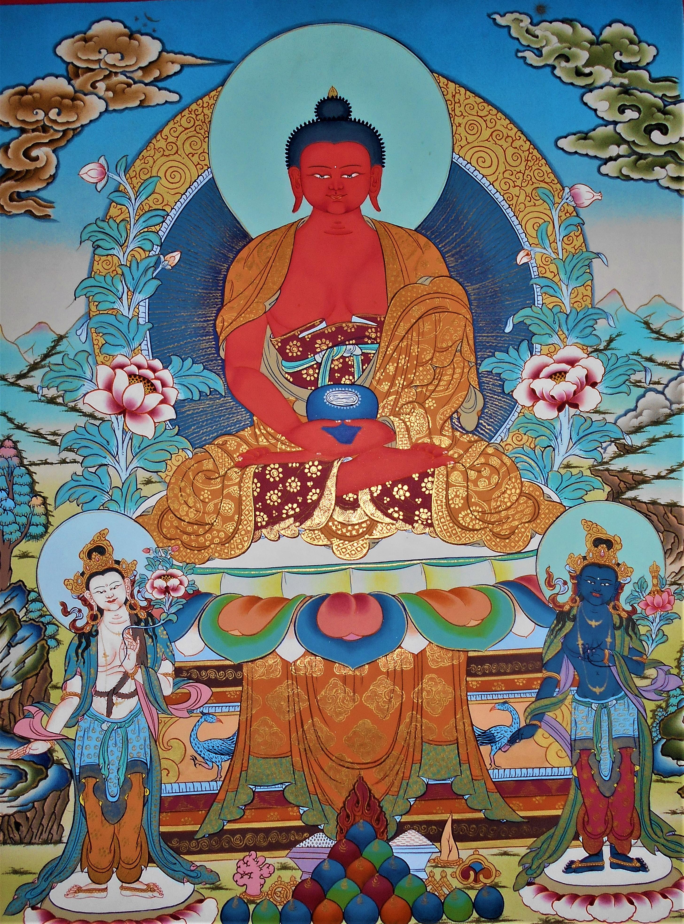 Buddhavamsa – Stirpe del Buddha Buddha-Amitabha-Thangka