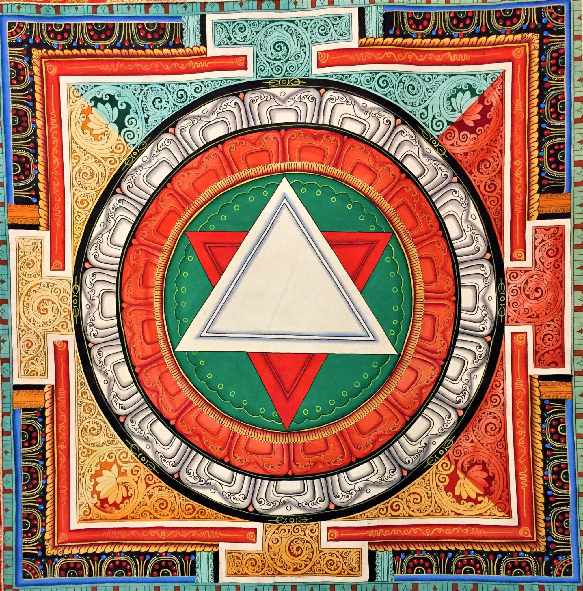 Sri Yantra Mandala Mandalas Life