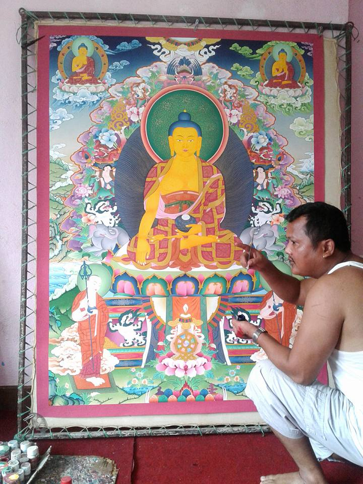 Rajman Lama painting Shakyamuni Buddha