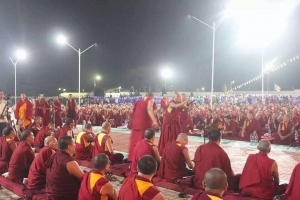 The Monks in Drepung Loseling Monastery