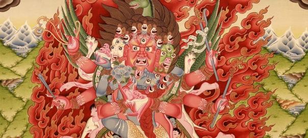Buy online Mahakala Thangka Painting