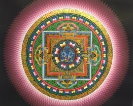 Lotus Mandala with Mahakala