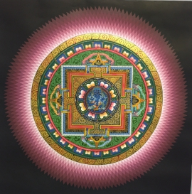 Lotus Mandala with Mahakala