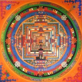 Kalachakra Mandala Tibetan Thangka painting