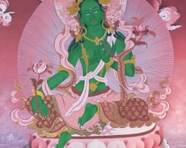 Green-Tara-Thanagka-Painting