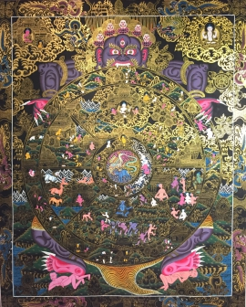 Wheel-of-Life-Thangka-Painting