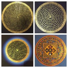 Set of Om Mantra Mandalas