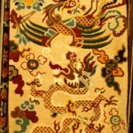 Tibetan Carpet with Dragon with Phoenix