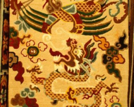 Tibetan-carpet-with-Dragon-with-Phoenix
