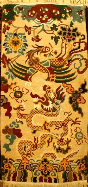 Tibetan-carpet-with-Dragon-with-Phoenix