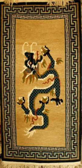 Tibetan-carpet-with-Dragon-in-the-center