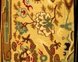 Tibetan Carpet with Phoenix and Dragon