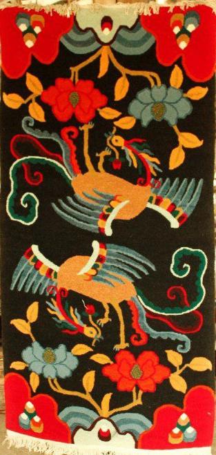 Tibetan-Carpet-with-a-pair-of-Phoenix