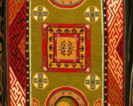 Tibetan carpet with mandala design
