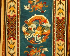 Tibetan carpet with Sleeping Dragon and Border
