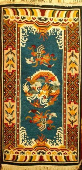 Tibetan carpet with Sleeping Dragon and Border