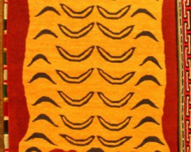 Tibetan carpet with tiger design