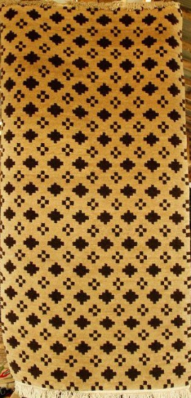 Tibetan carpet with check design