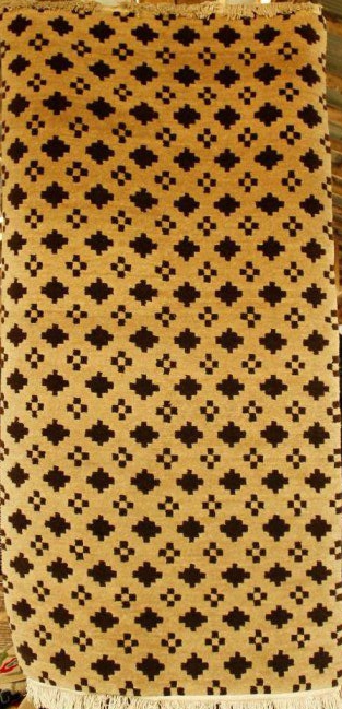 Tibetan carpet with check design