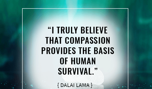 """I truly believe that compassion provides the basis of human survival."""