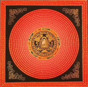 Mantra Mandala with Shakyamuni Buddha in Center