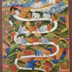 Way to Heaven Thangka Painting