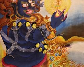 Vajrapani Thangka painting