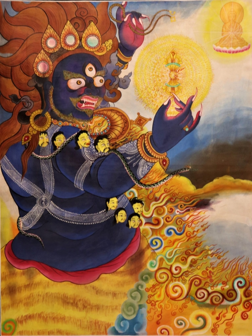 Vajrapani Thangka painting