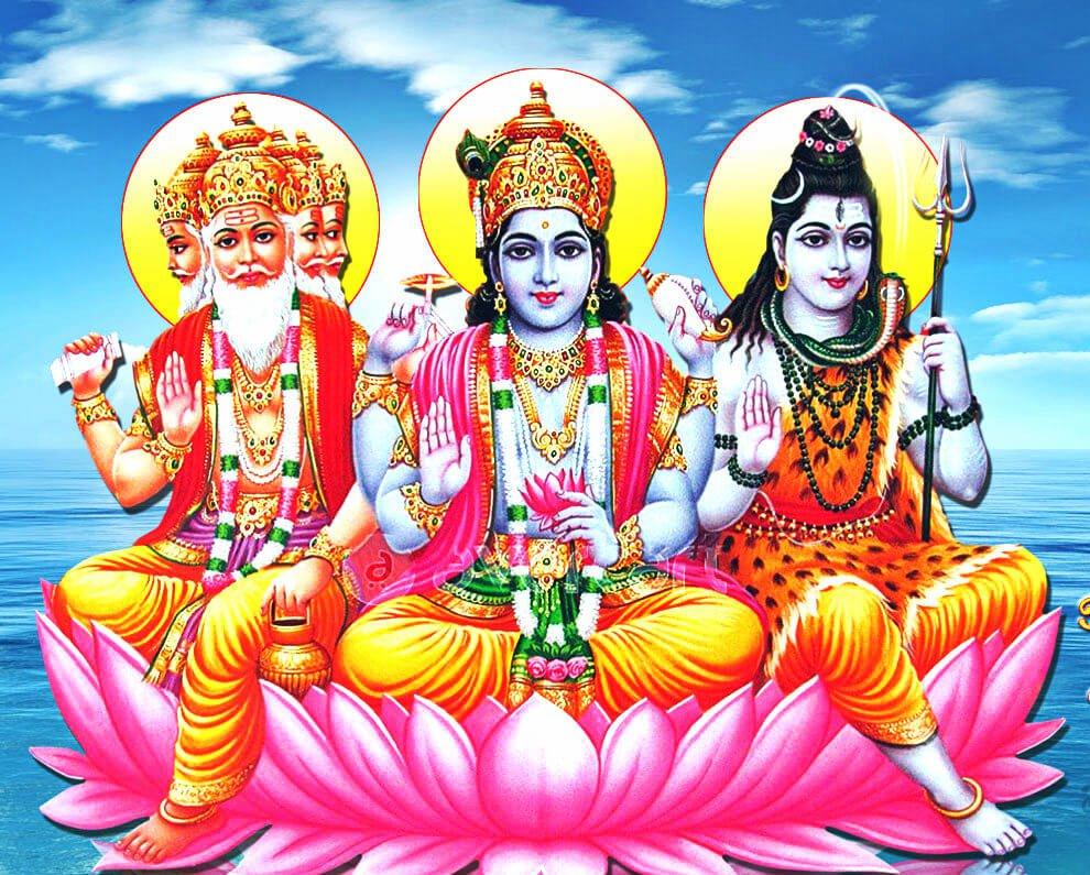 Resultado de imagen de vishnu, brahma shiva