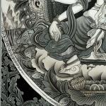 Vasudhara Thangka details