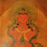 Amitabha Buddha Antique Thangka