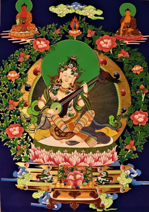 saraswati thangka