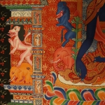 Medicine Buddha Thangka Scroll Painting Details