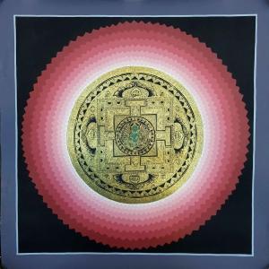 Green Tara Lotus Mandala