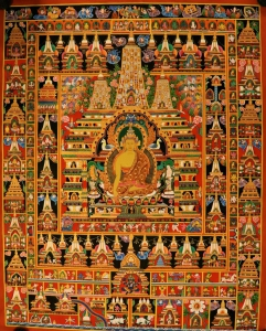 Buddha with the One Hundred Jataka Thangka
