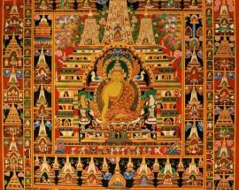 Buddha with the One Hundred Jataka Thangka