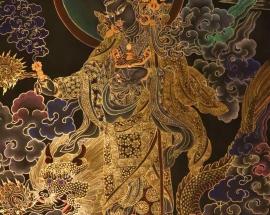 standing Guru Rinpoche Thangka painting