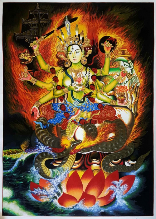 Annapurna Thangka Painting