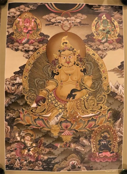 Five Jambhala Thangka