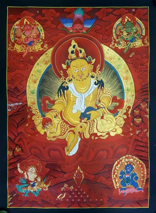 Pancha Kuber - Five Jambhala Thangka