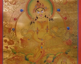 Golden Five Jambhala Thangka