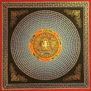 Chenrezig Mantra Mandala Art