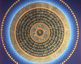lotus Om mandala